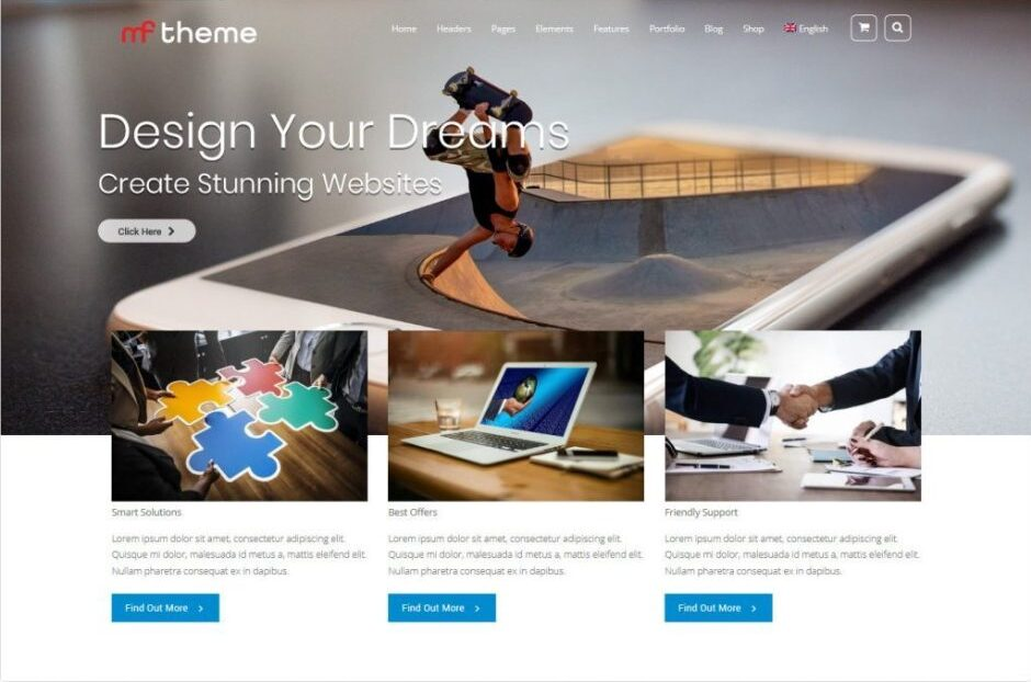MF Premium Quality WordPress Business Theme