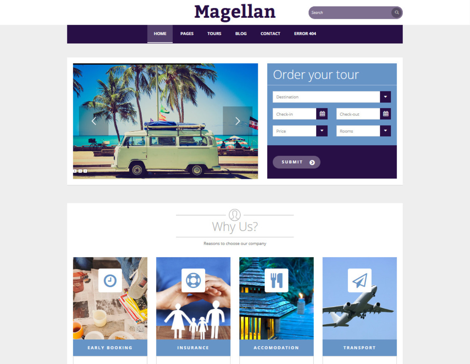 Magellan Hotel and Travel Agency Theme