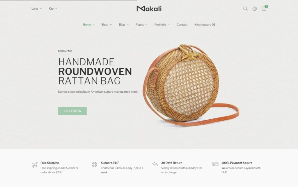 Makali Feminine WooCommerce WordPress Themes