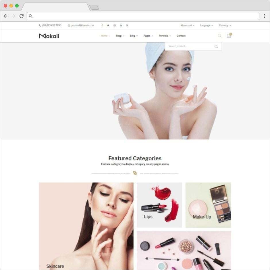 Makali WordPress Beauty Salon Feminine Womens Theme