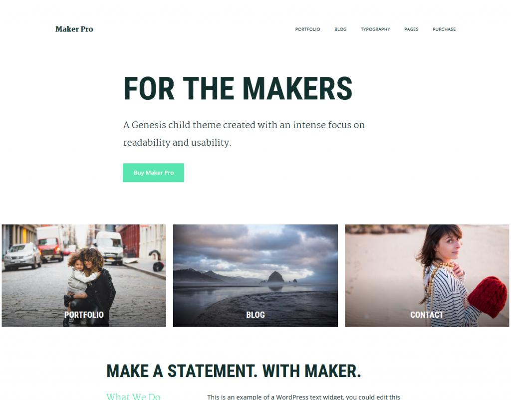 Maker Pro WordPress Journaling Themes