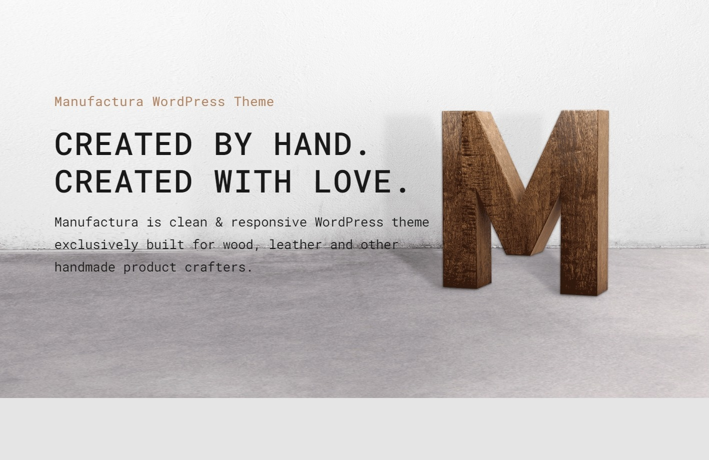 Manufactura Theme for Hand Crafted Products