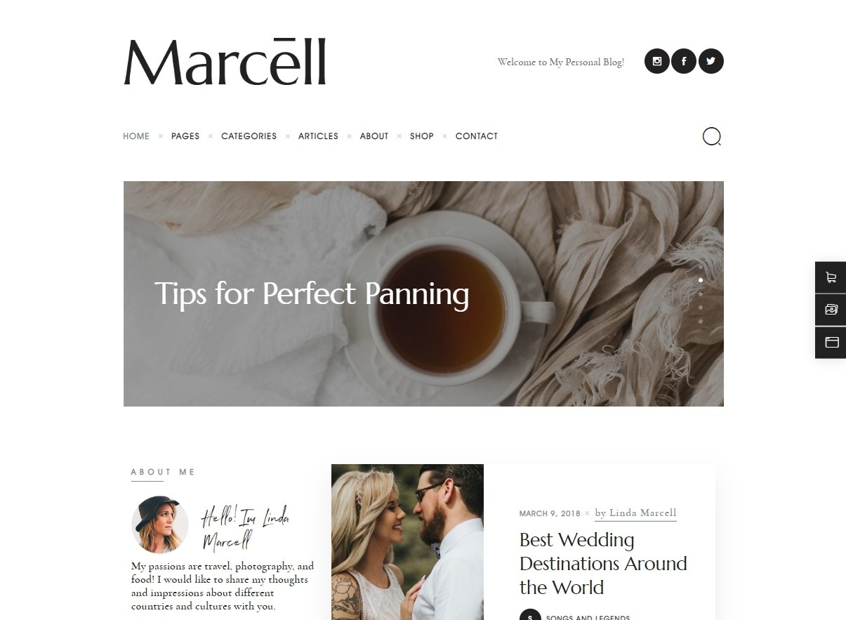 Marcell Minimal Personal Blog for Parenting and Lifestyle Blogs