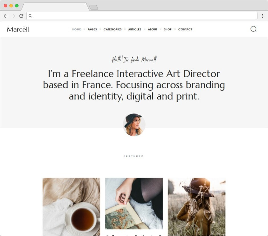 Marcell Minimalist Writers Theme For Blogs