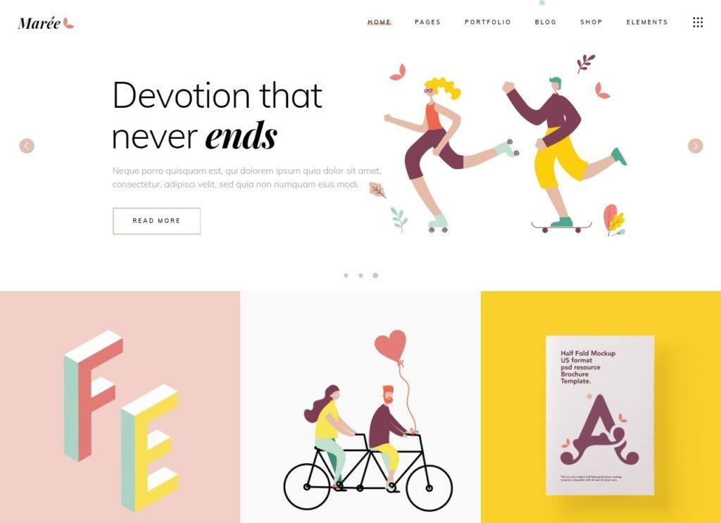 Maree Illustration and Design Portfolio Theme