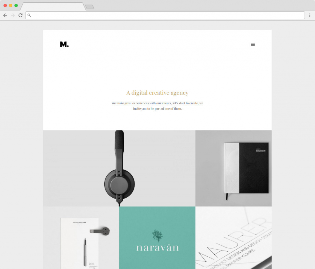 Margo Creative Masonry Grid WordPress Portfolio Theme