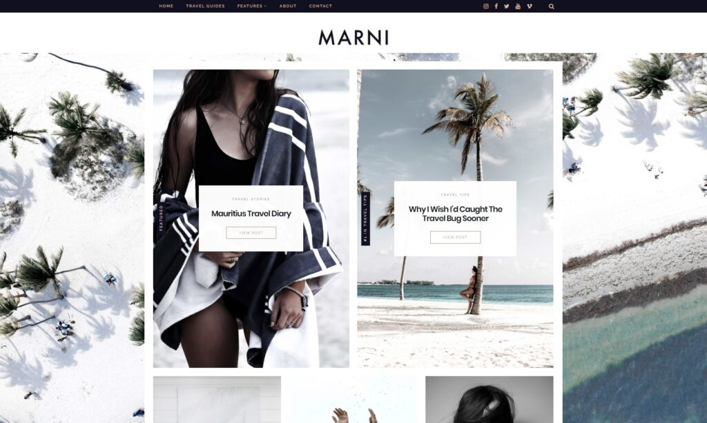 Marni Personal and Lifestyle Blog Theme for WordPress
