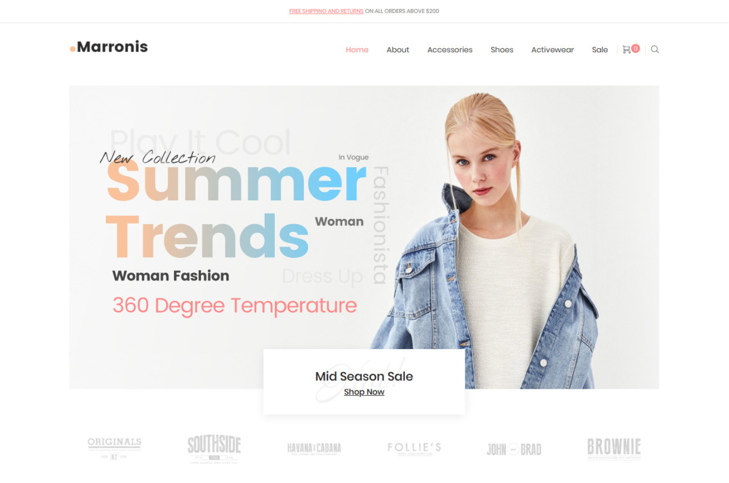 Marronis Clean Refreshing WooCommerce Fashion Theme