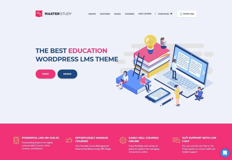 MasterStudy LMS WordPress Education Theme