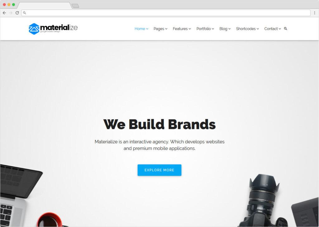 Materialize Material Design Multipurpose Premium WordPress Theme