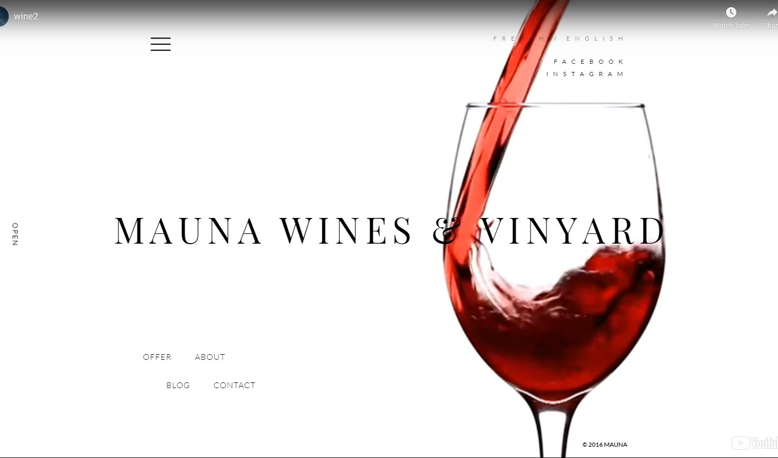 Mauna Multipurpose Theme for Wine Bars