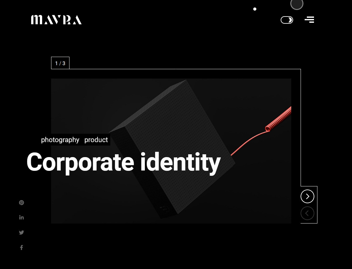 Mavra Creative Portfolio WordPress Theme