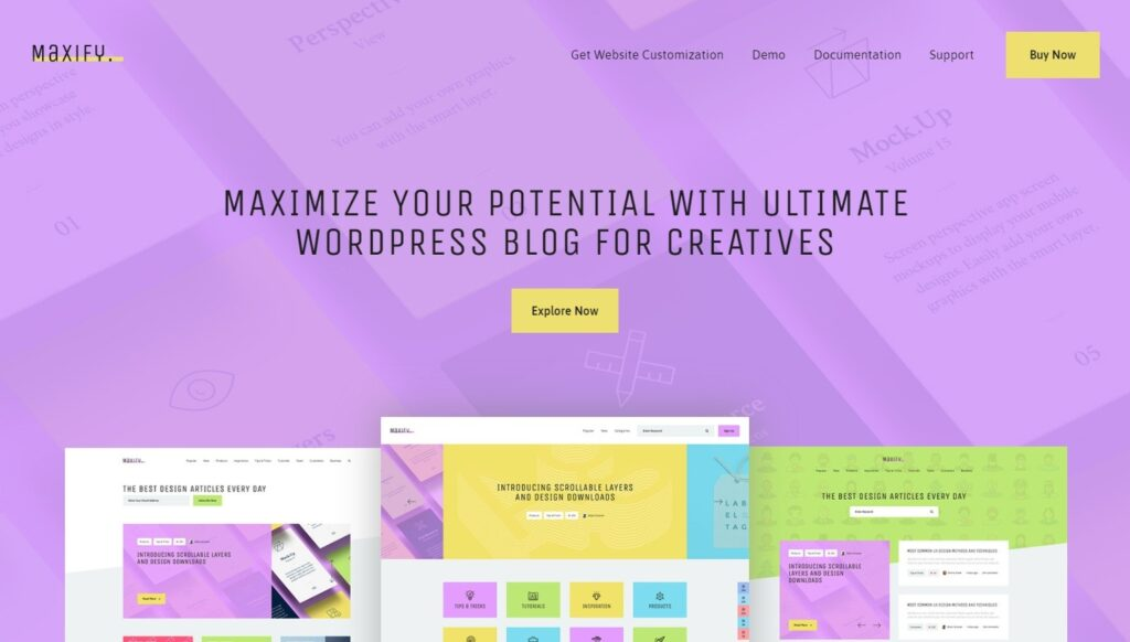 Maxify WordPress Theme for Elementor Page Builder