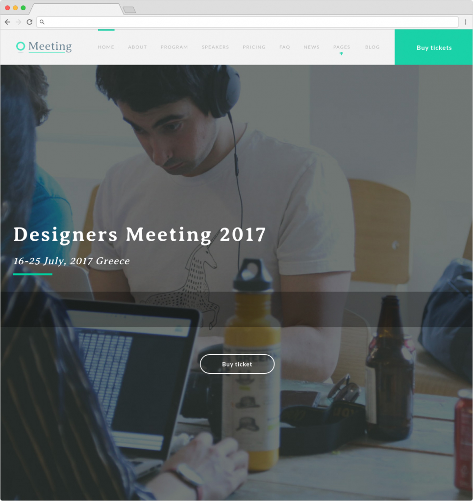 Meeting WordPress Theme For Events