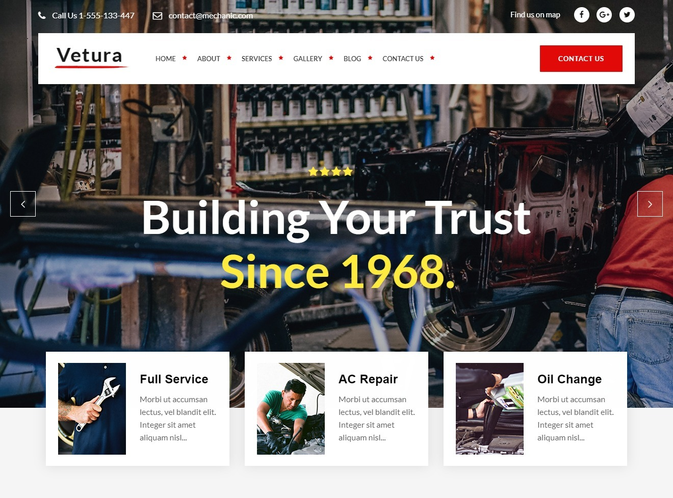 Mekanik WordPress Auto Mechanic Theme