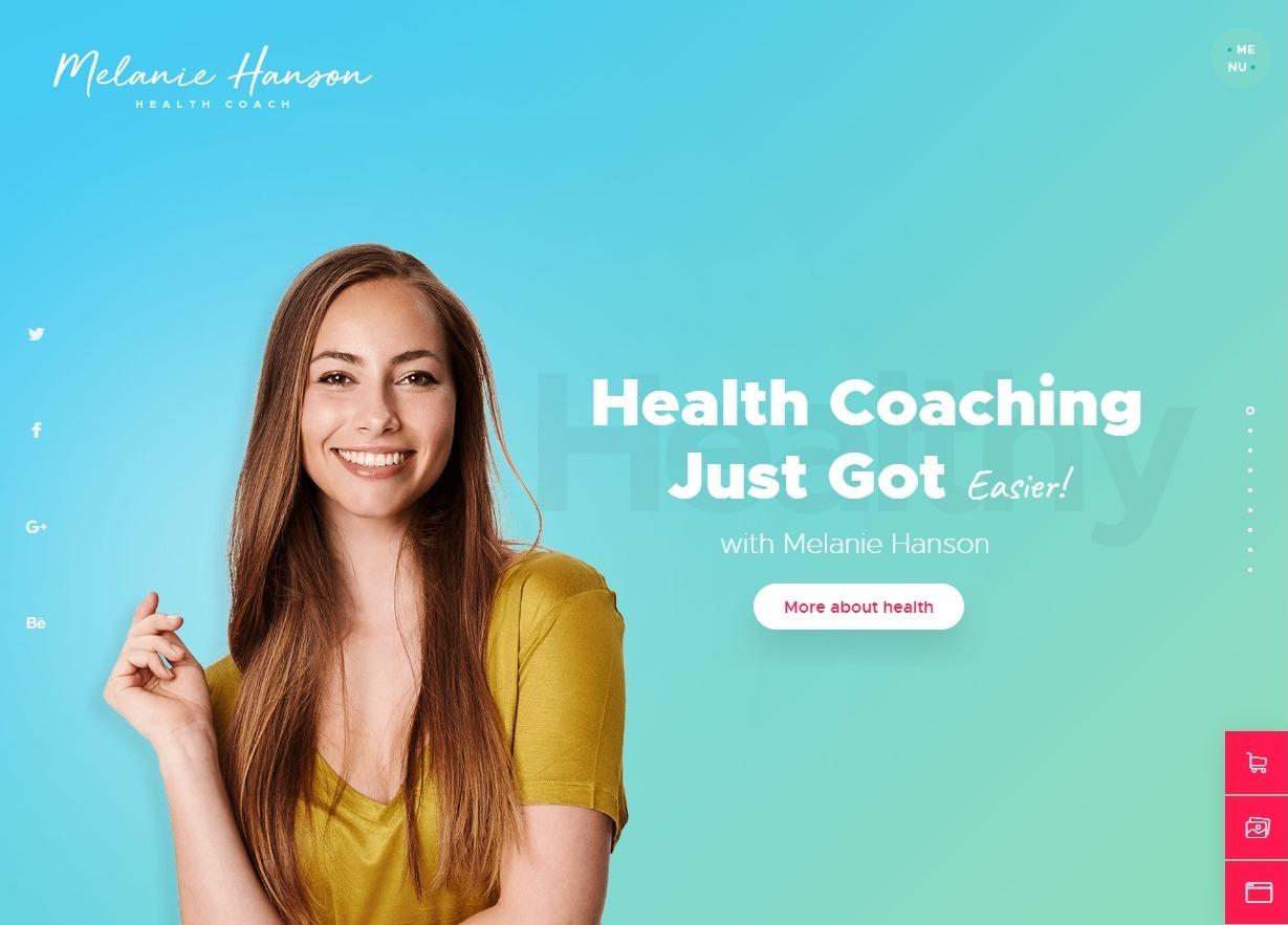 Melanie Hanson WordPress Health Coach and Mothers Blog Theme