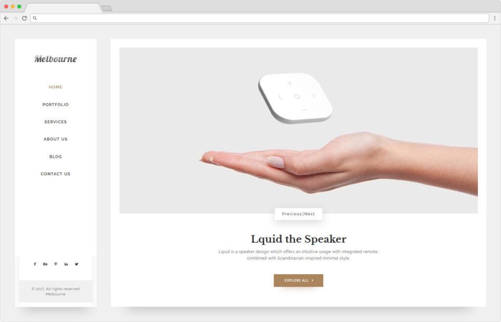 Melbourne Material Design Blog Minimal WordPress Theme