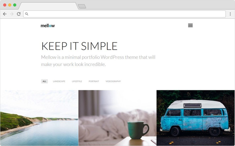 Mellow Pure Professional Clean Grid Blog And Portfolio