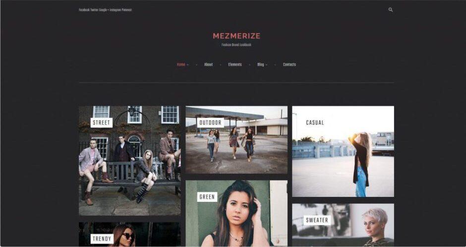 Mezmerize WordPress Theme for Lookbook Portfolios
