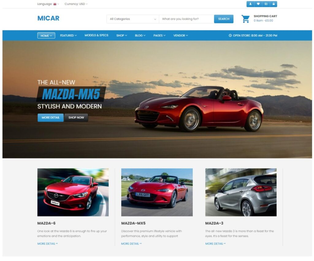 Micar WordPress Auto Dealership and Magazine Theme