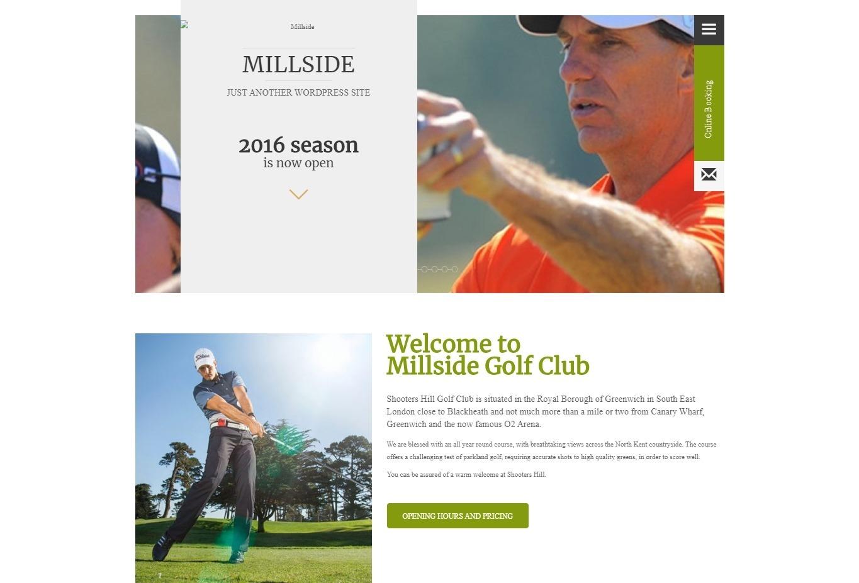 Millside WordPress Golf Courses Theme