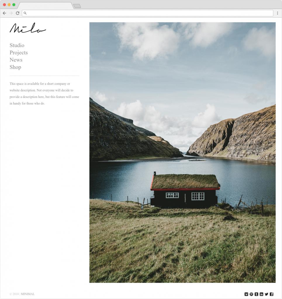 Milo Flat Multipurpose Photographers Themes