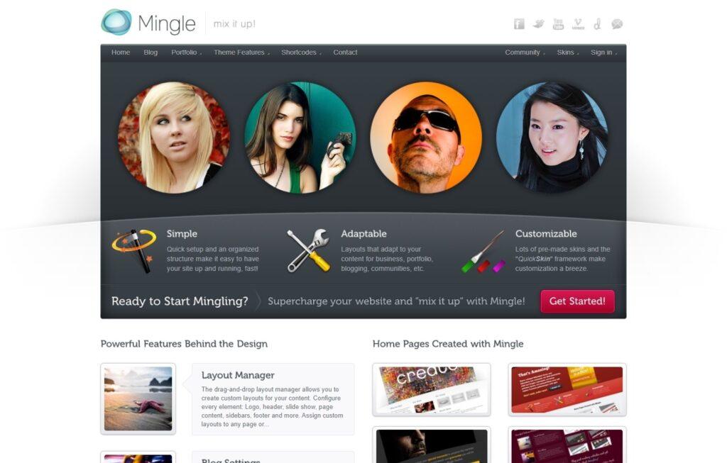 Mingle Classic BuddyPress Theme for WordPress