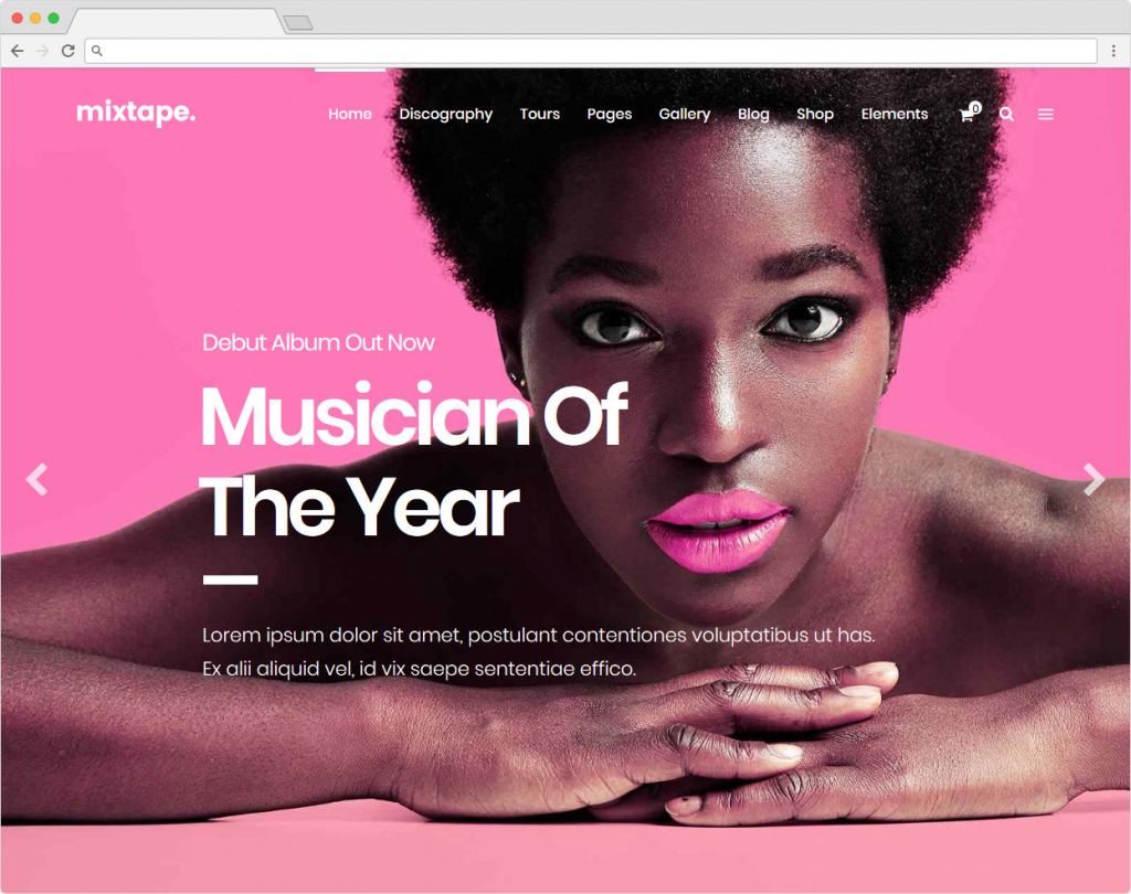 MixTape WordPress Music Theme