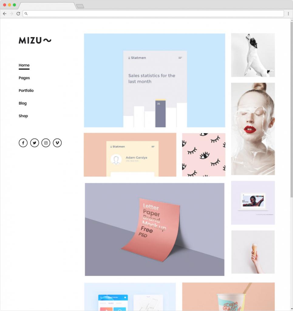 Mizu WordPress Metro Style Themes