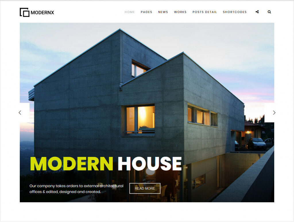 Modernx WordPress Architecture Interior Designer Theme