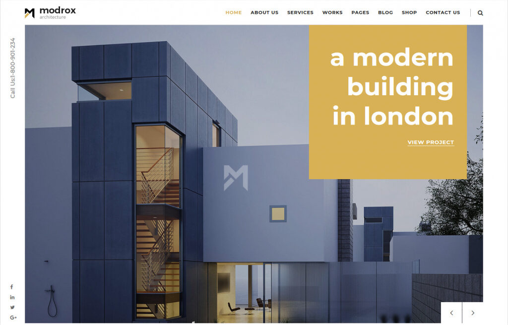 Modrox WordPress Architecture Theme