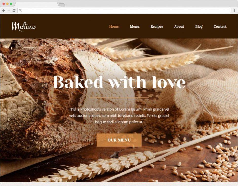 Molino WordPress Restaurant And Bakery Theme