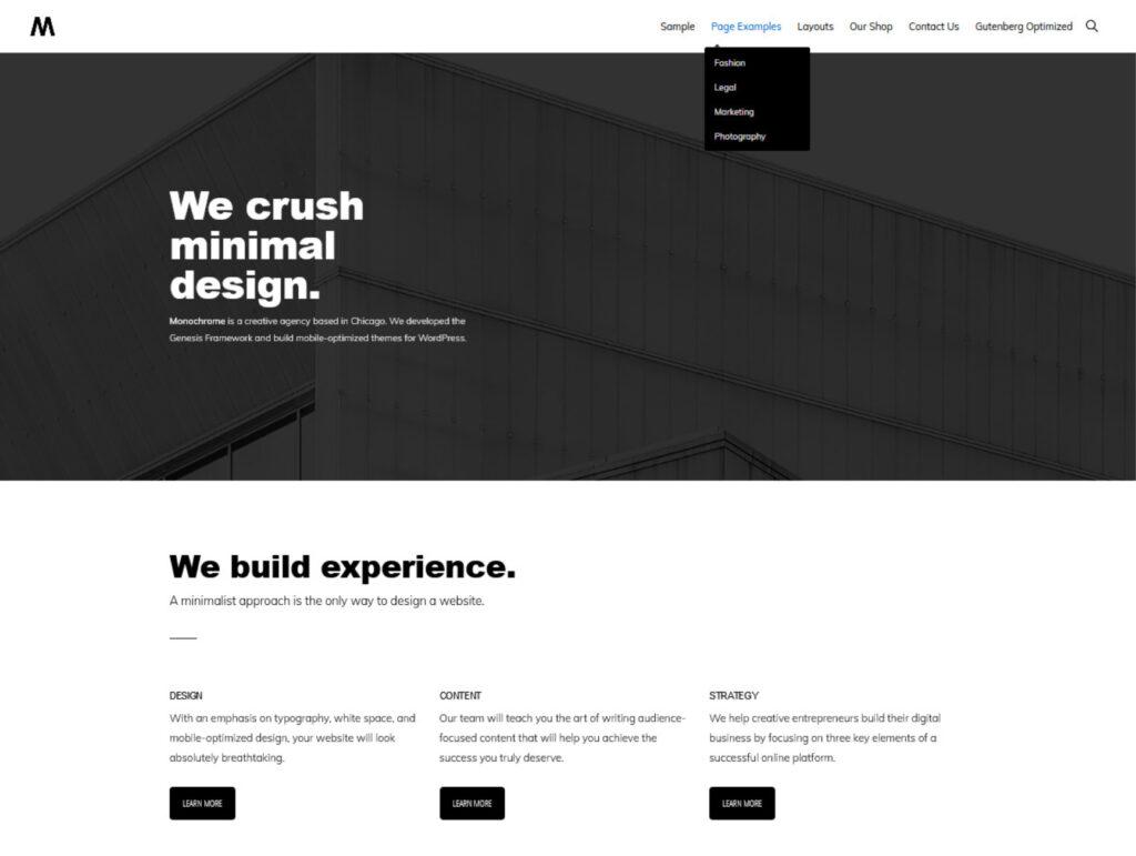 Monochrome Pro Black and White WordPress Theme