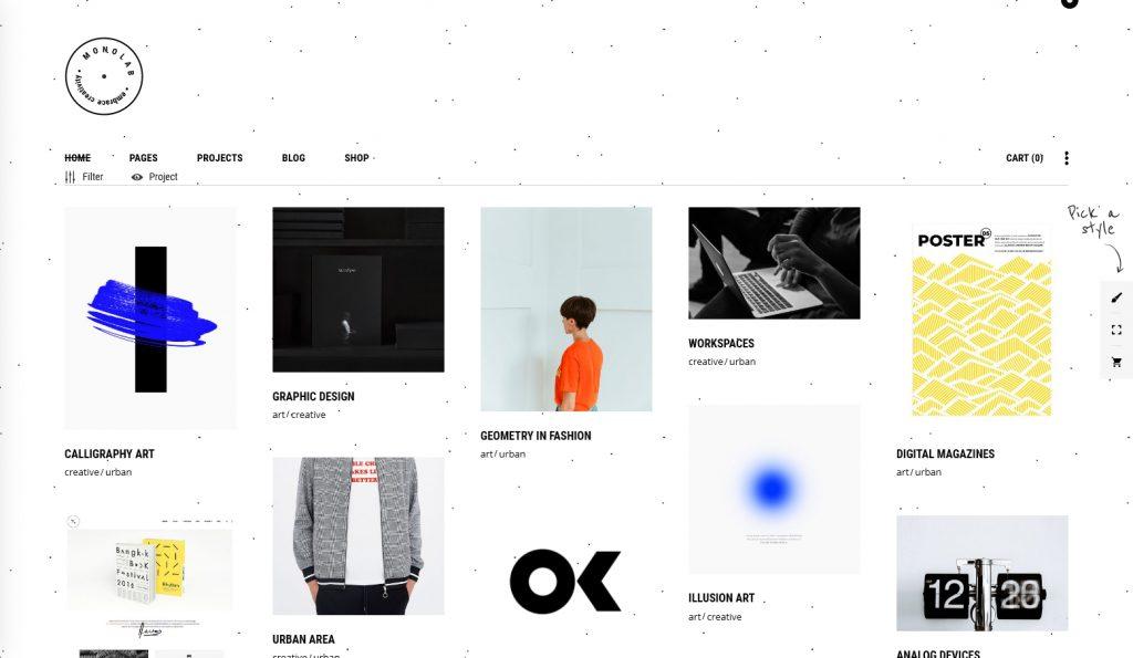 Monolab WordPress Creative Grid Portfolio For Agencies