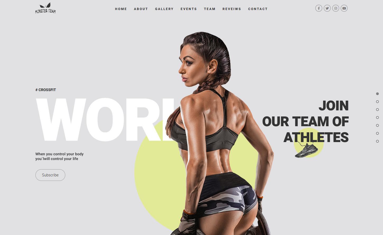 Monster Team WordPress Crossfit Gym Theme