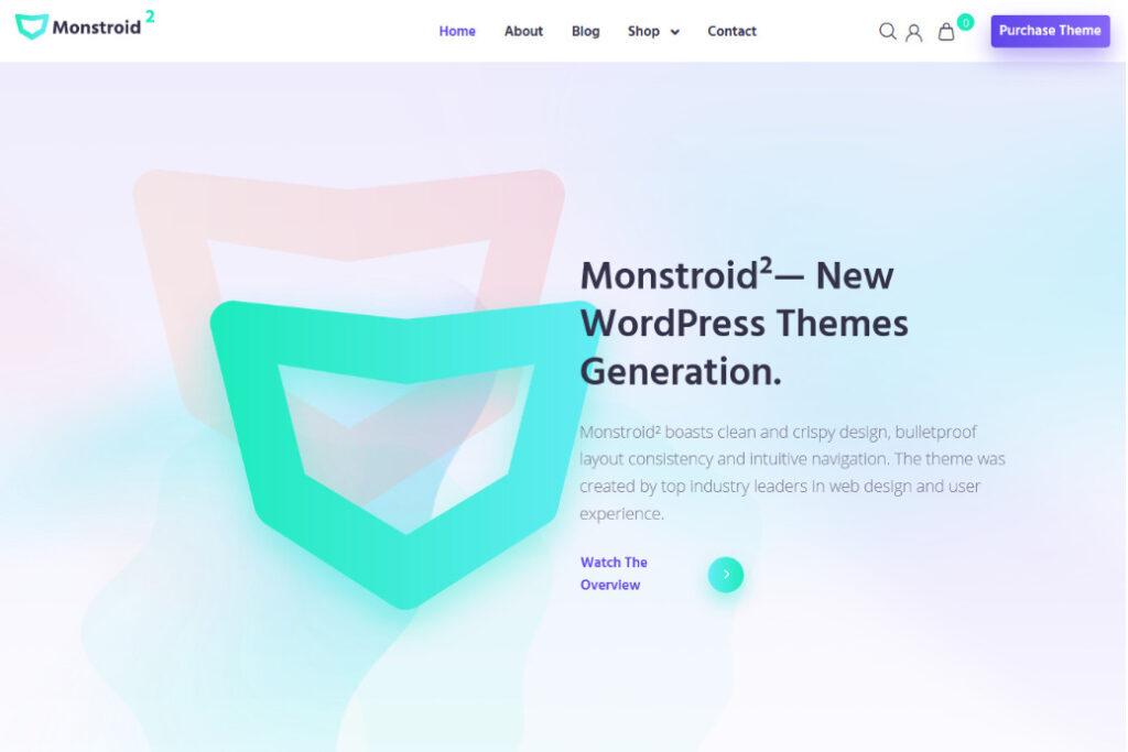 Monstroid 2 Flat Multipurpose Multi Media Theme