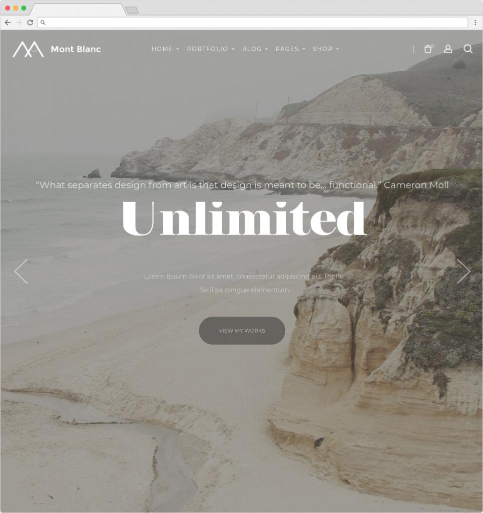 Montblanc WordPress Parallax Portfolio And Personal Blog Themes
