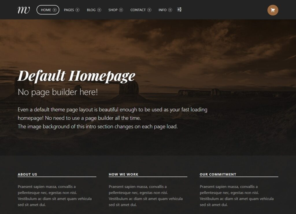 Monument Valley GPL WordPress Theme Without Page Builder