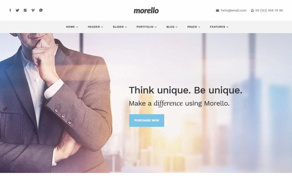 Morello Clean Flat Business WordPress Theme