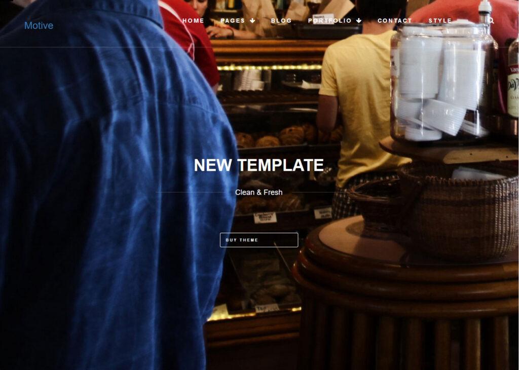 Motive WordPress One Page Theme with Portfolio Design