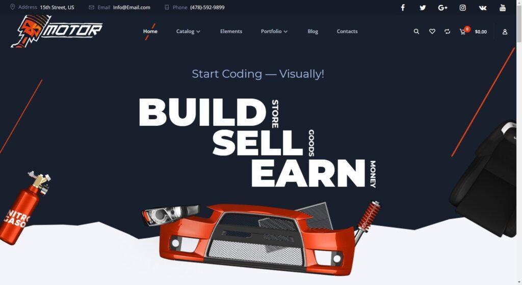Motor WordPress Auto Parts Themes
