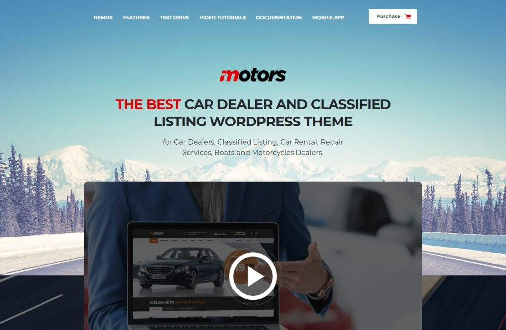 Motors Most Popular Car Dealership and Classified Ads Theme