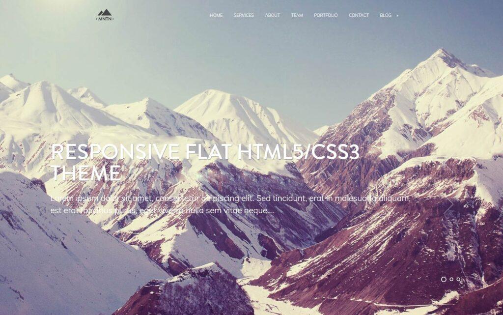 Mountain Flat Full Screen WordPress Theme