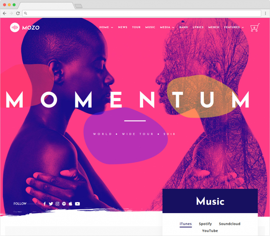 Mozo Music Blog WordPress Theme