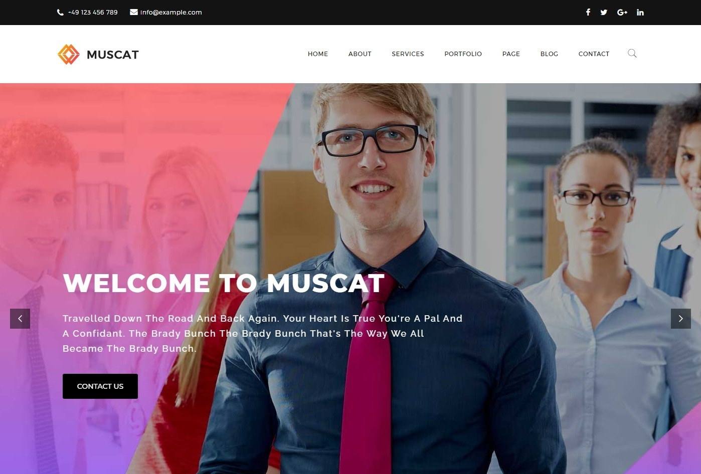 Muscat Multi Purpose Theme for Trades