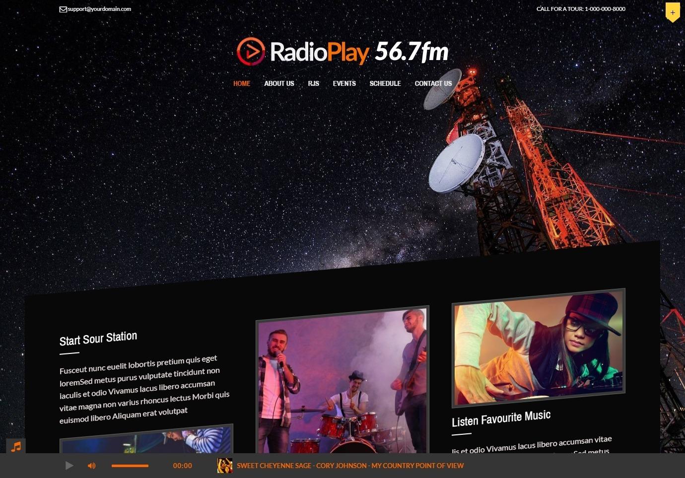 Music Play Unique Radio Station WordPress Theme