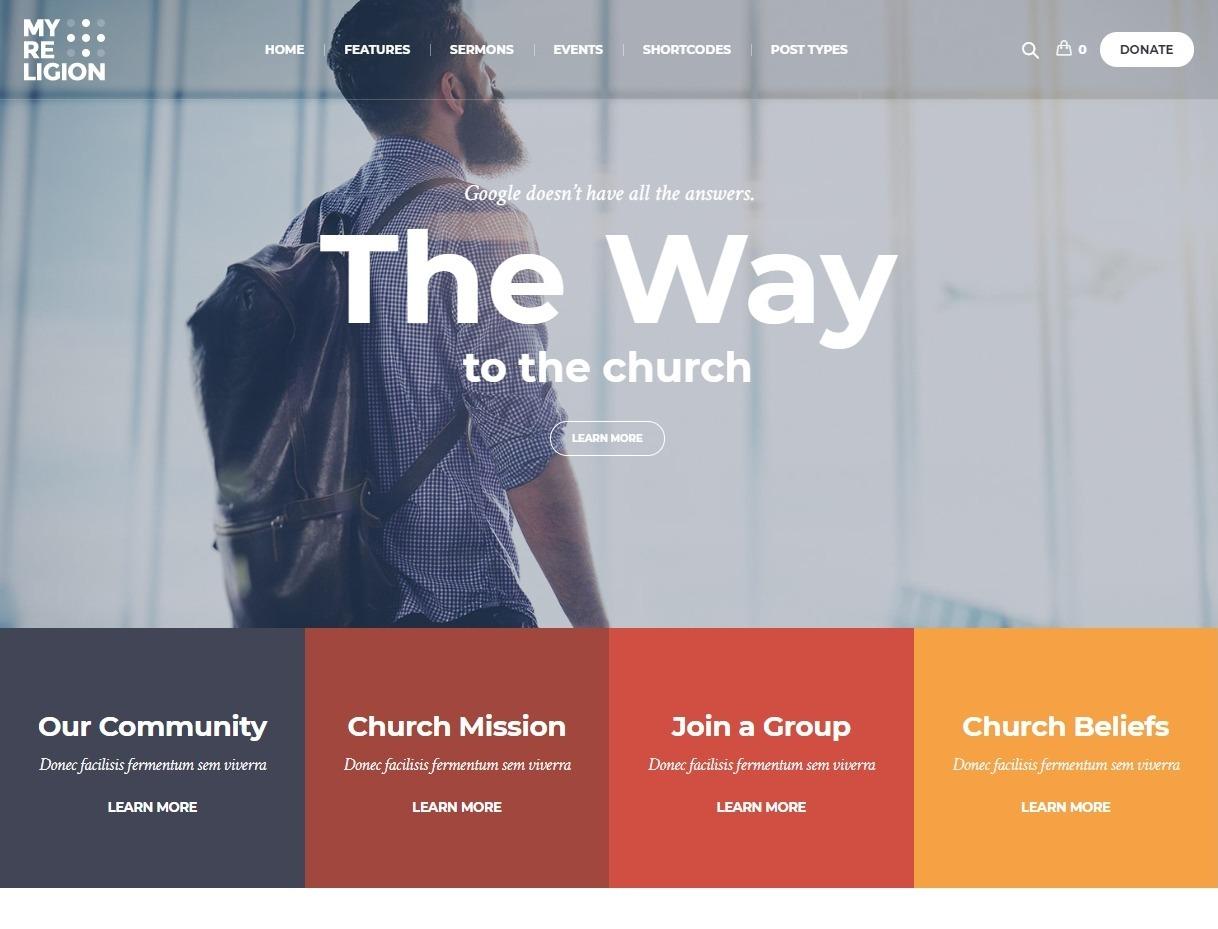 My Religion Modern Church WordPress Theme