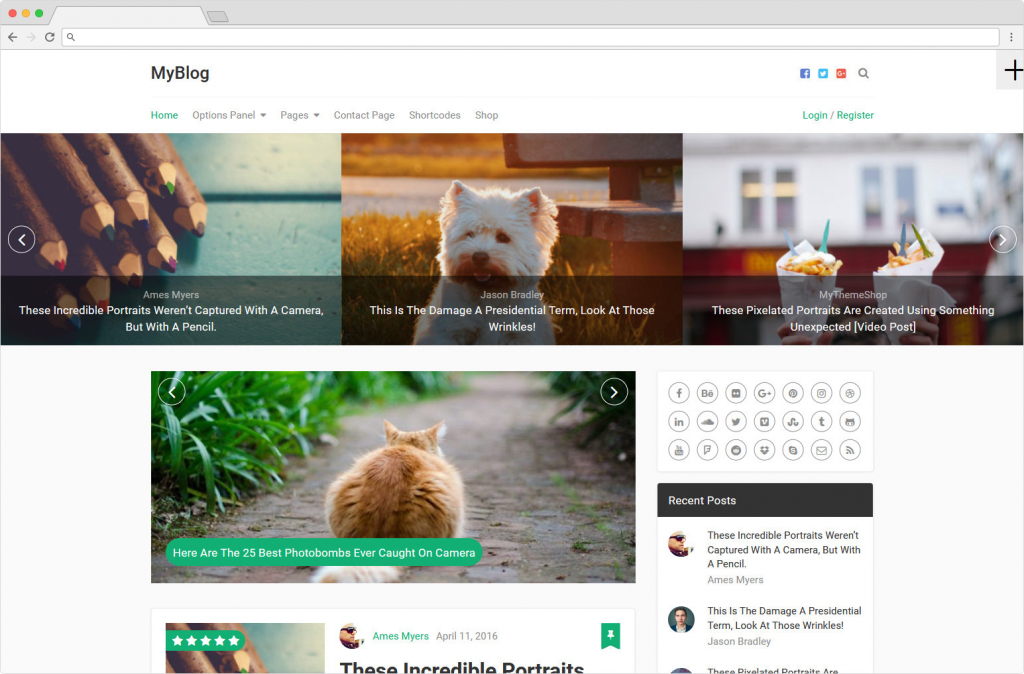 MyBlog Travel Lifestyle And Personal Blogging Theme