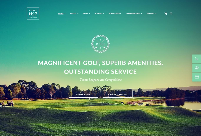N7 Golf Club WordPress Theme