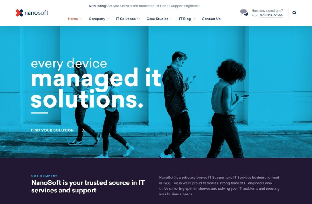Nanosoft WP Theme for IT Solutions and Services Company